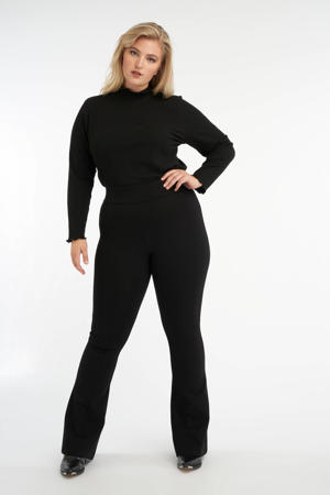 flared legging zwart