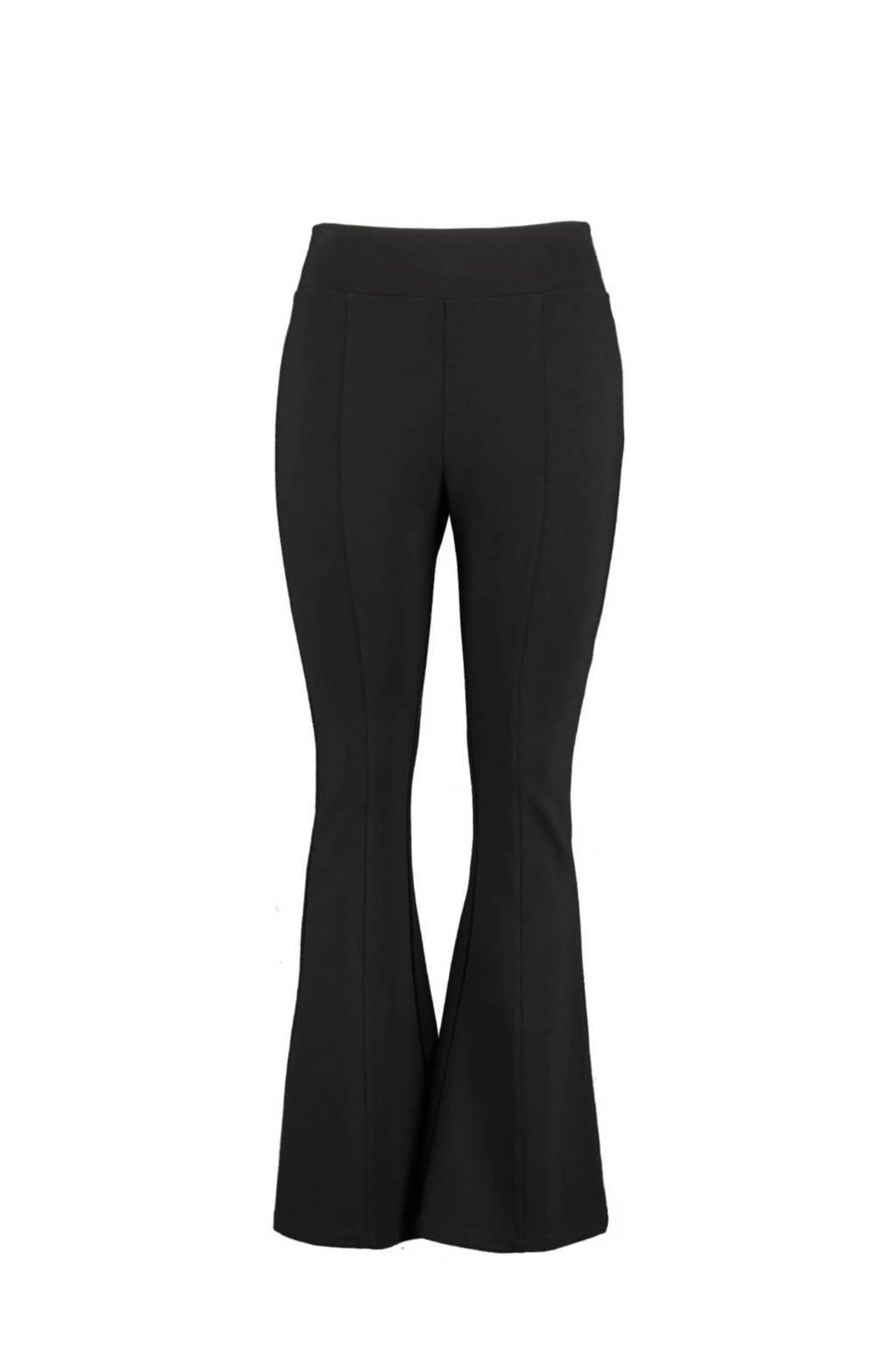 MS Mode flared legging zwart, Zwart