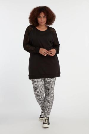 legging zwart/wit
