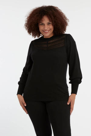 trui met kant zwart