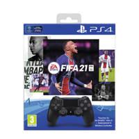 Sony  PS4 Wireless DualShock 4 V2 Controller + FIFA 21 (PlayStation 4), Zwart