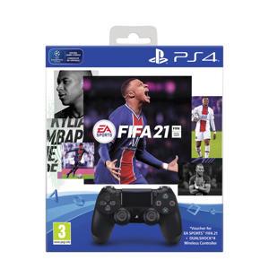 PS4 Wireless DualShock 4 V2 Controller + FIFA 21 (PlayStation 4)