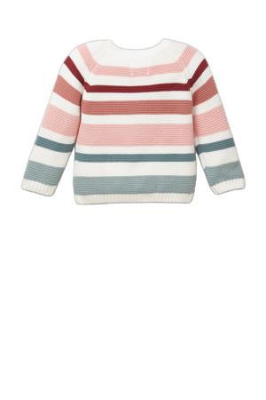 trui van biologisch katoen ecru/roze/groen