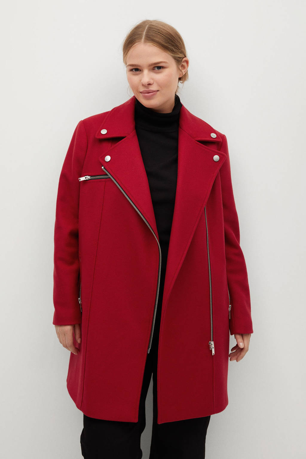 Violeta by Mango wollen coat rood, Rood