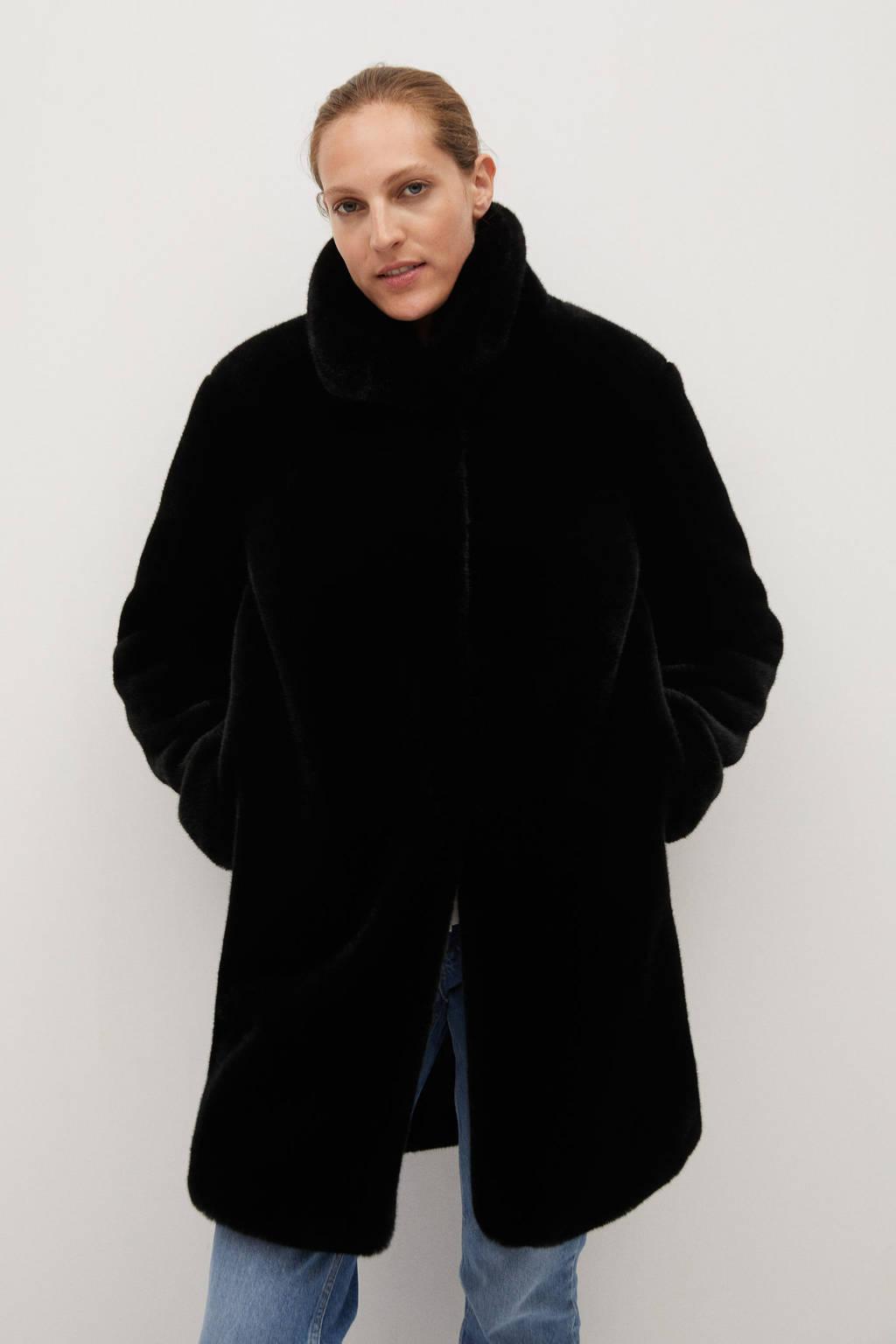 Mango coat zwart, Zwart