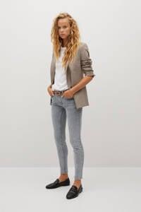 Mango coated low waist skinny jeans grijs, Grijs