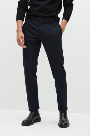 slim fit pantalon grijsblauw