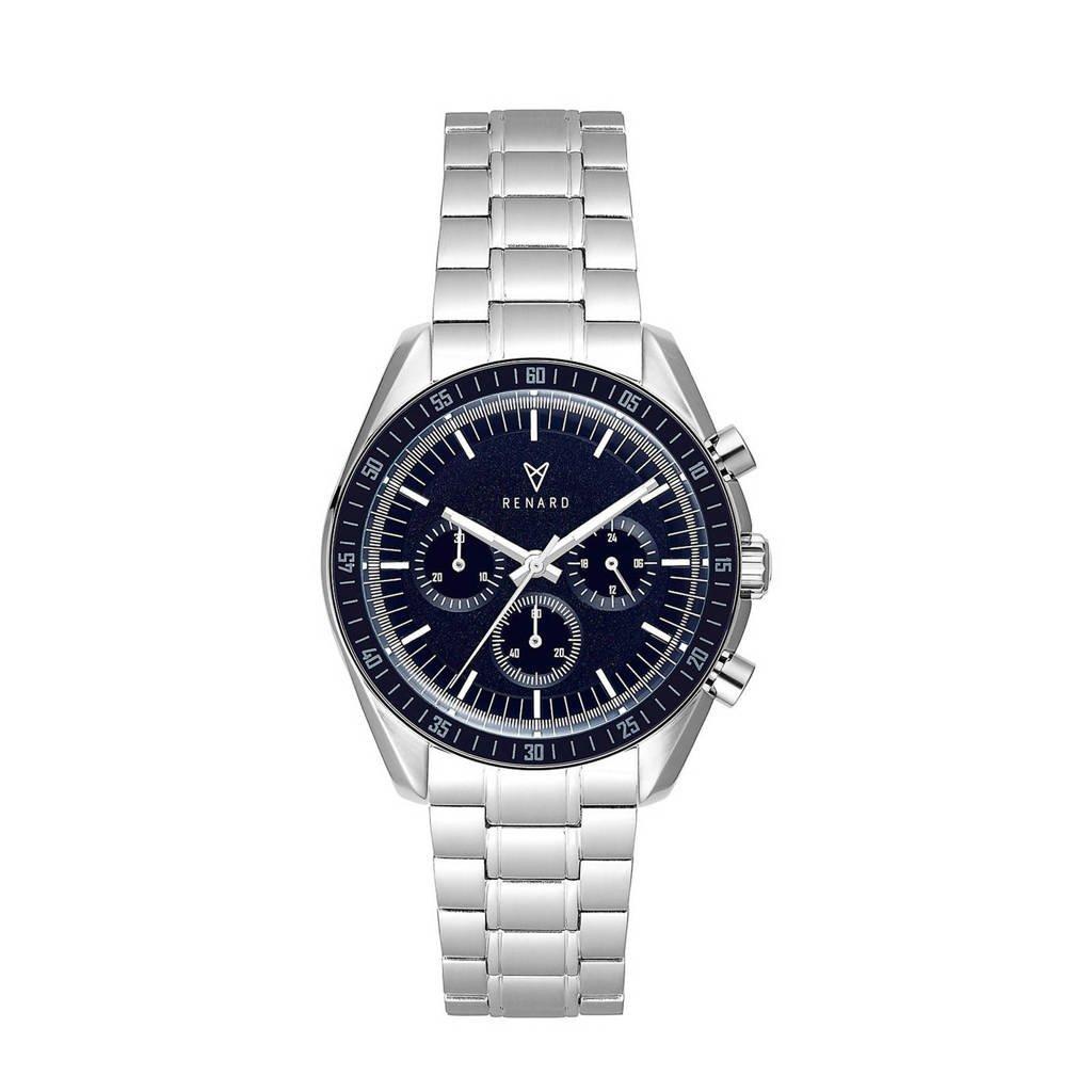 Renard horloge Sportif  R61SS40SS1 zilver/donkerblauw, Zilverkleurig