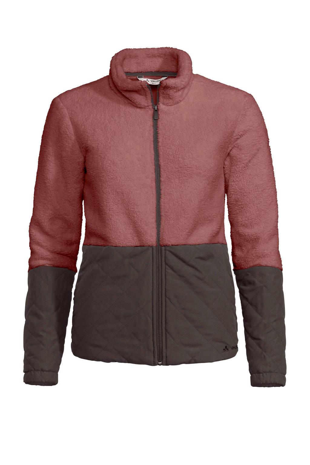 Vaude fleece vest Manukau rood/donkerbruin, Dusty-Rose