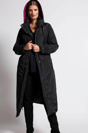coat met textuur zwart