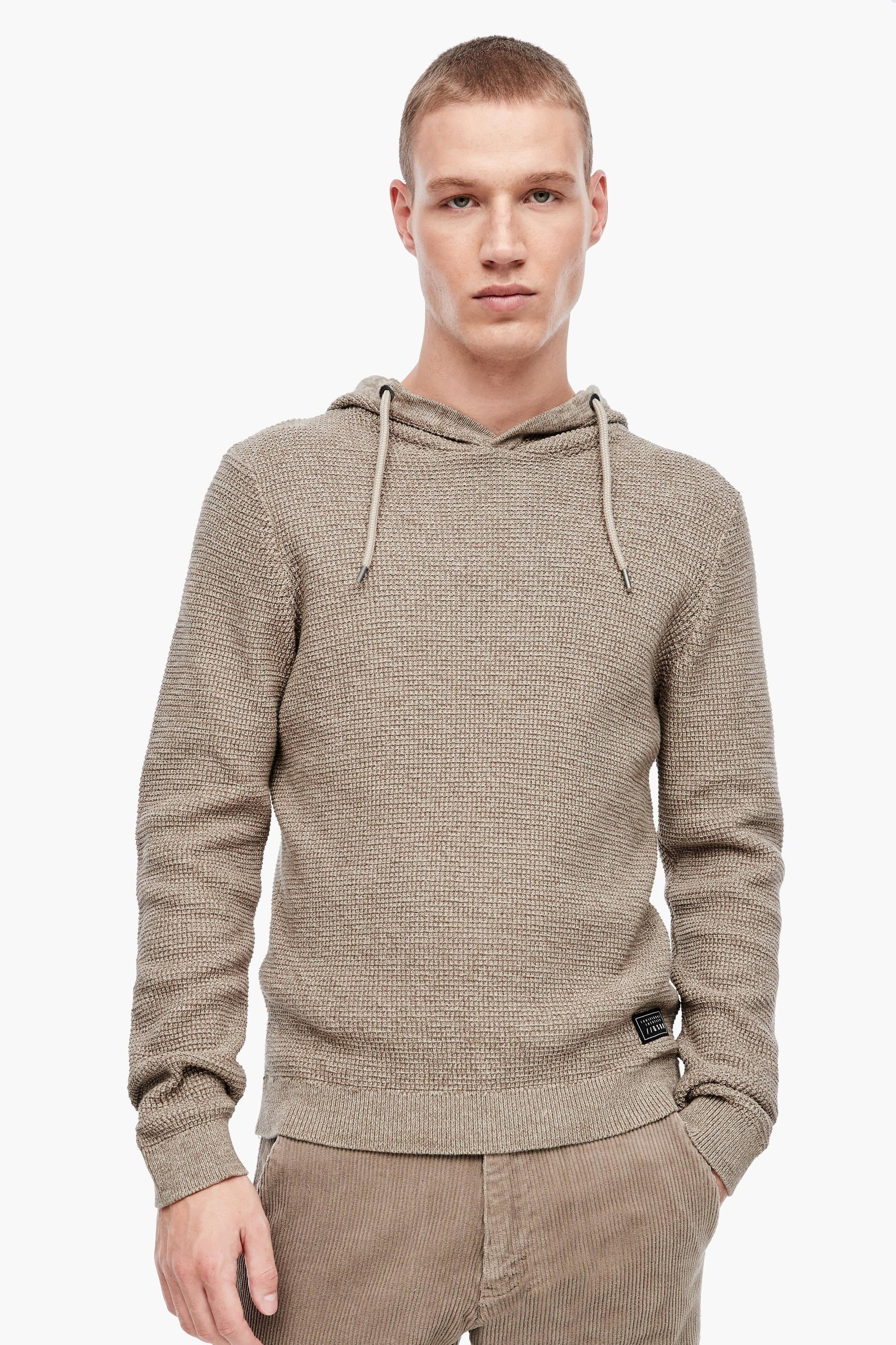QS designed by gemêleerde trui roodbruin | wehkamp