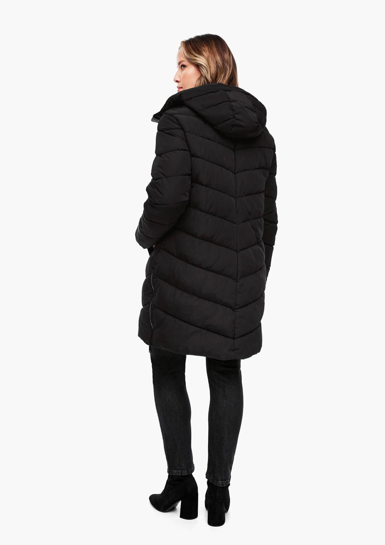 TRIANGLE gewatteerde jas zwart, Zwart