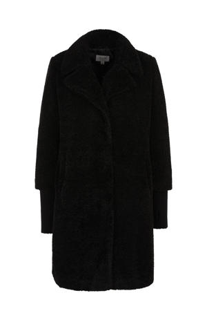 teddy winterjas zwart