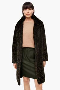 s.Oliver imitatiebont winterjas met panterprint donkergroen/zwart, Donkergroen/zwart