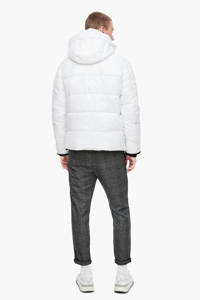 Q/S designed by gewatteerde jas wit/zwart, Wit/zwart