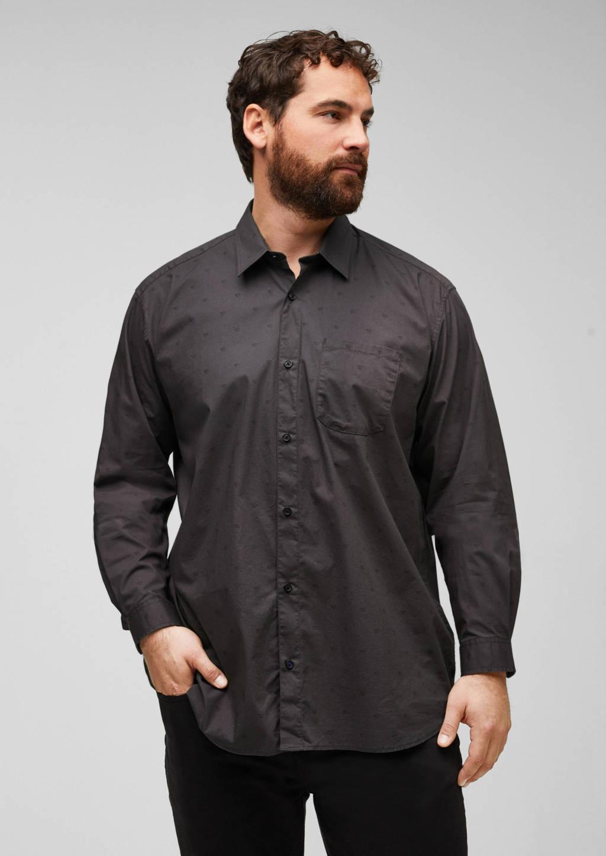 s.Oliver regular fit overhemd donkergrijs, Donkergrijs
