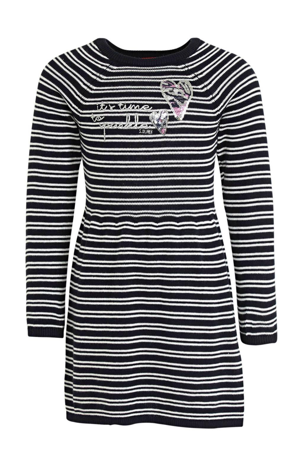 s.Oliver gestreepte jurk marine/wit, Marine/wit