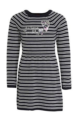 gestreepte jurk marine/wit