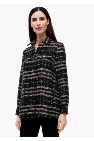 geruite blouse zwart/grijs/blauw