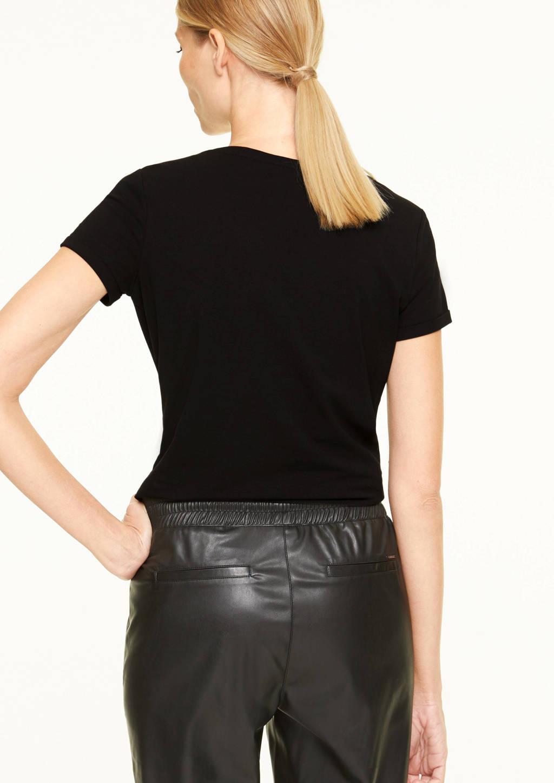 comma T-shirt met printopdruk zwart, Zwart