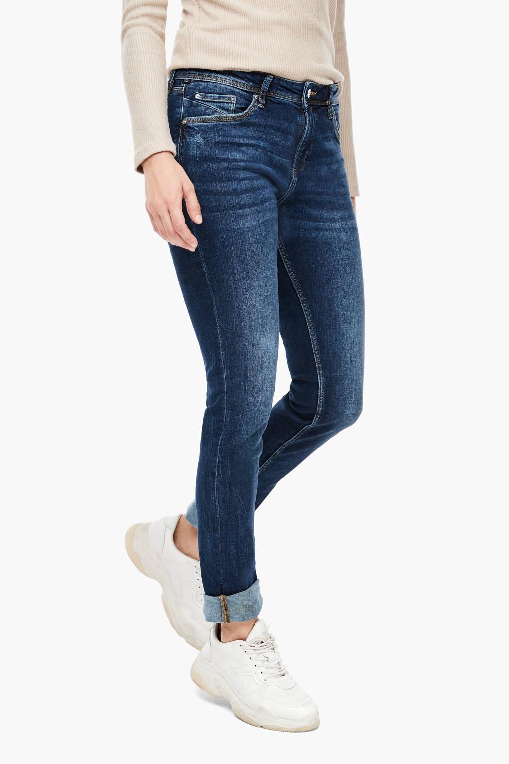 Q/S designed by slim fit jeans dark denim stonewashed, Dark denim stonewashed
