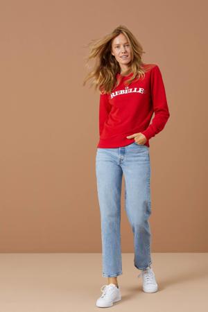 sweater Le Rebelle met logo rood