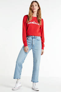 Colourful Rebel sweater Le Rebelle met logo rood, Rood
