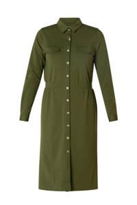 Ivy Beau blousejurk olijfgroen, Olijfgroen
