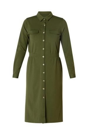 blousejurk olijfgroen