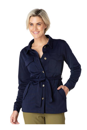 jasje met ceintuur donkerblauw