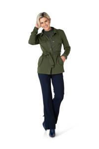 Ivy Beau jasje met ceintuur donkergroen, Donkergroen