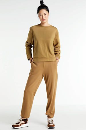 straight fit joggingbroek Holly camel