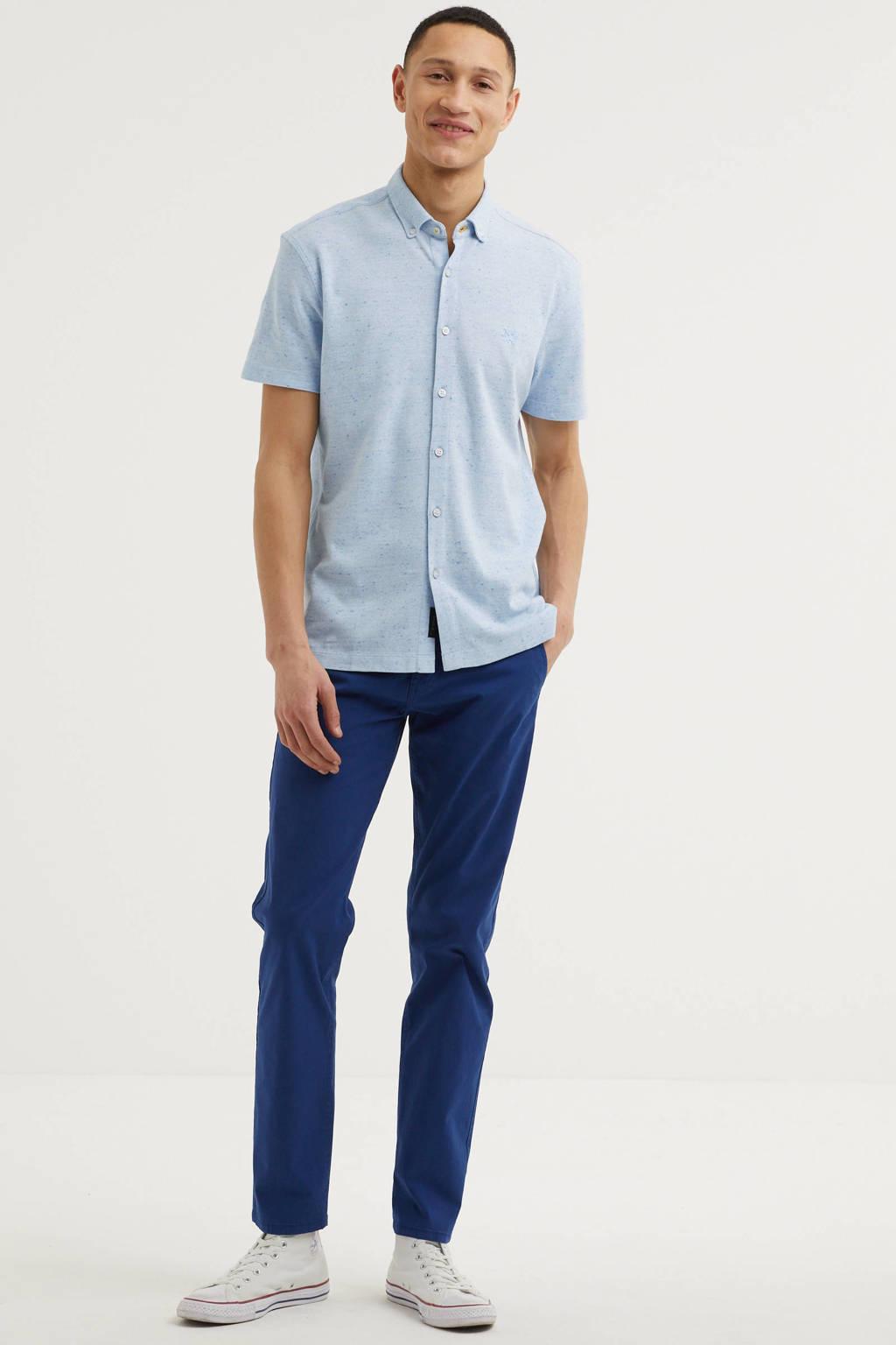 Vanguard gemêleerd regular fit overhemd lichtblauw, Lichtblauw