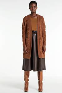 ONLY grofgebreid vest bruin, Bruin