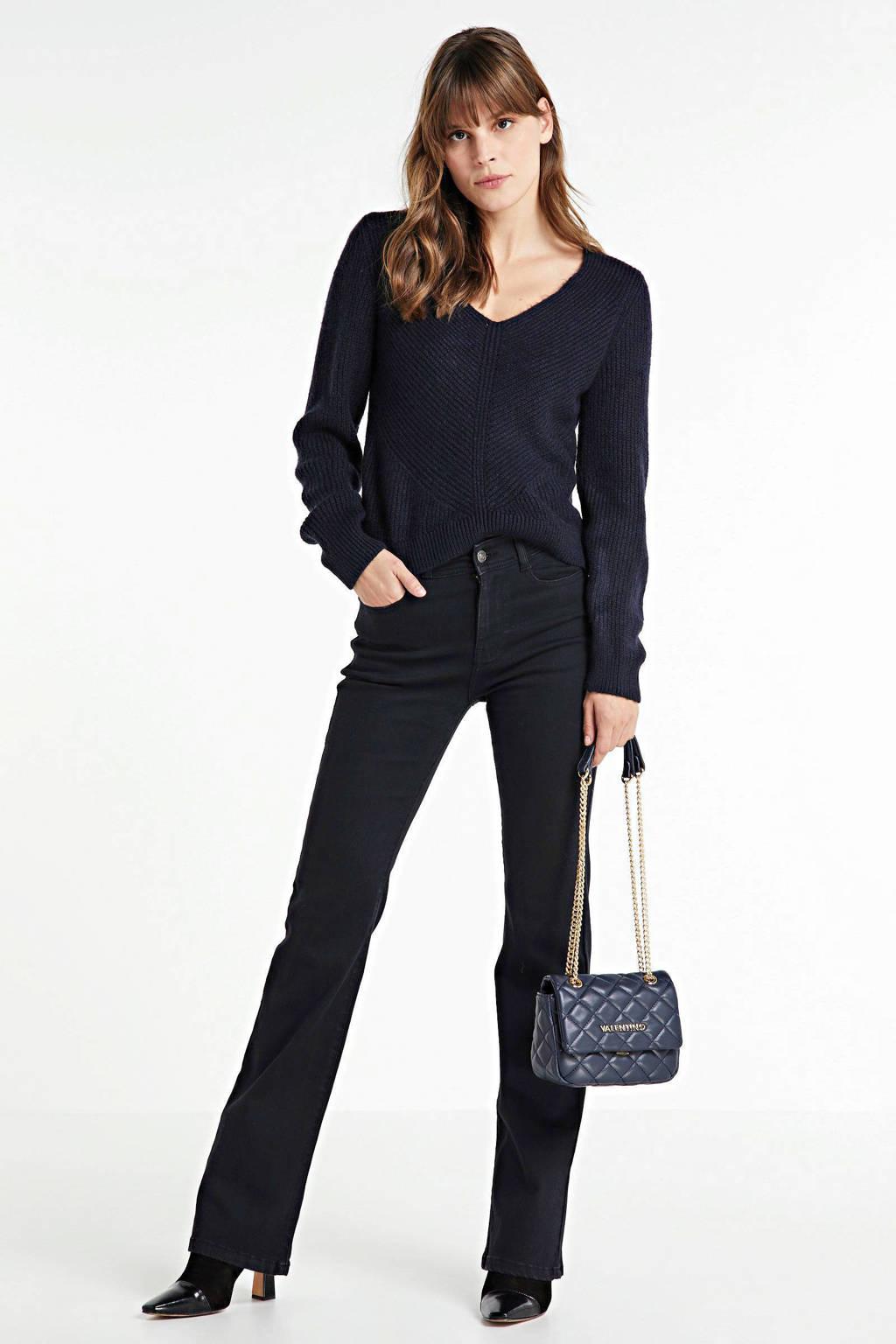 ONLY trui met printopdruk donkerblauw, Donkerblauw