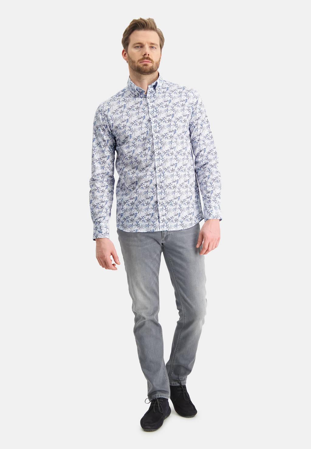 State of Art regular fit overhemd met all over print blauw, Blauw