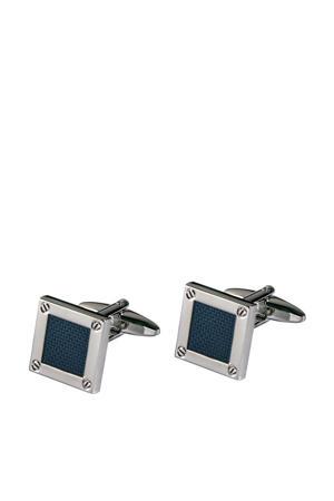 manchetknopen zilver/donkerblauw