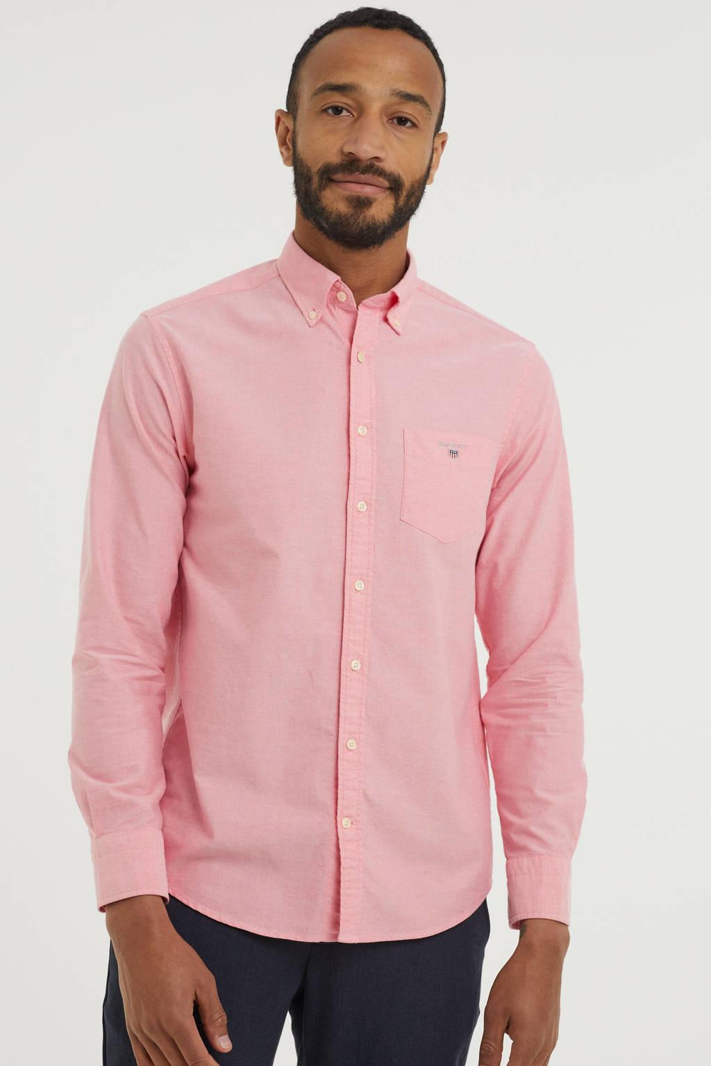 GANT regular fit overhemd roze, Roze