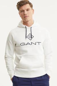 GANT hoodie met logo ecru, Ecru