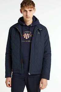 GANT jack met logo donkerblauw, Donkerblauw