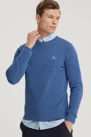 gemêleerde trui blauw melange