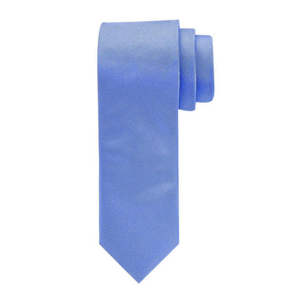 Profuomo zijden stropdas blauw/wit, Blauw/wit