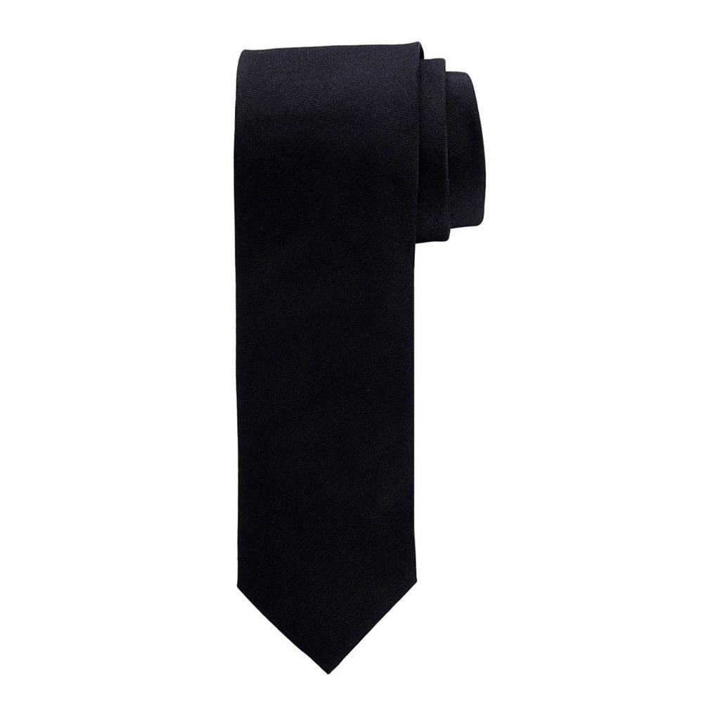 Profuomo zijden stropdas blauw/wit, Zwart