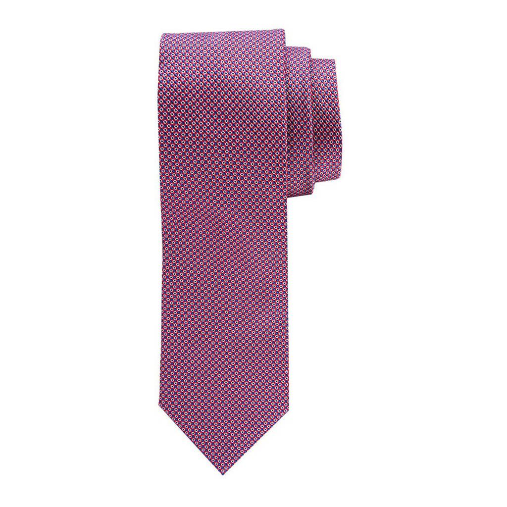 Profuomo zijden stropdas blauw/wit, Rood/blauw