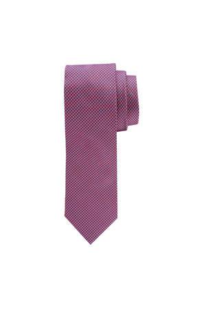 zijden stropdas blauw/wit