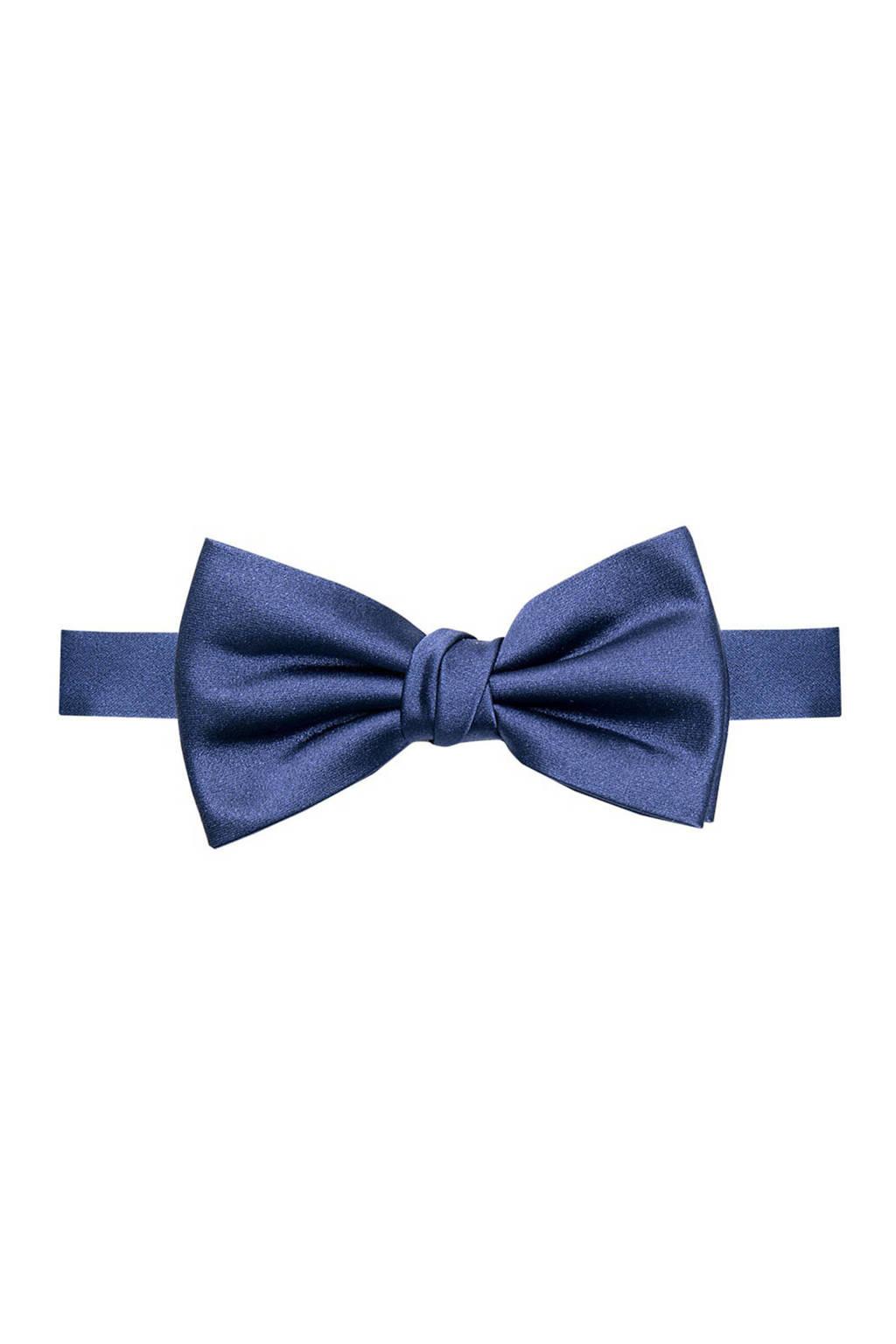 Profuomo zijden vlinderstrik blauw, Blauw