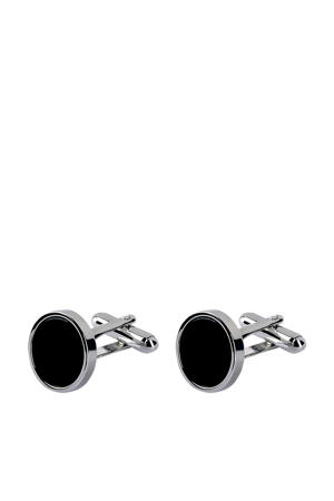 manchetknopen zilver/zwart