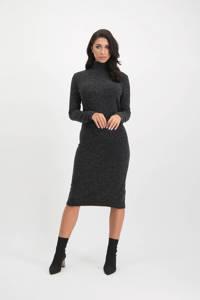 Lofty Manner gebreide jurk Joana zwart, Zwart
