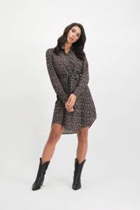 Lofty Manner gebloemde blousejurk Holly zwart, Zwart