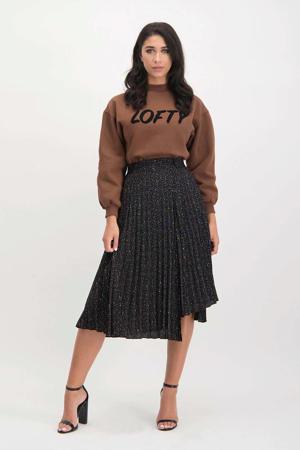 asymetrische rok Raya zwart/ bruin